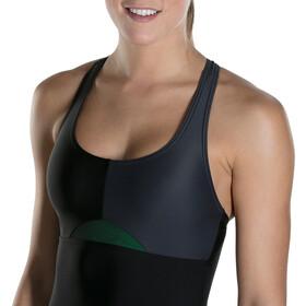 speedo HydrActive Strój kąpielowy Kobiety szary/czarny